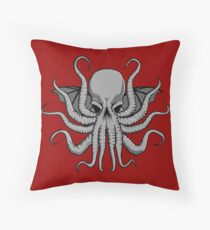 Grey Chtulhu Throw Pillow