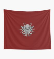 Grey Chtulhu Wall Tapestry