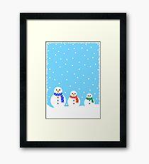 Christmas Snowmen Framed Print