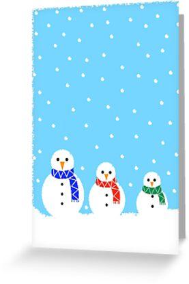 Christmas Snowmen by Adam Regester