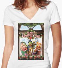 the muppet christmas carol Women's Fitted V-Neck T-Shirt