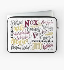 Spells & Charms-Red Laptop Sleeve
