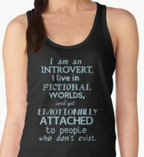 introvert, fictional worlds, fictional characters #2 Women's Tank Top