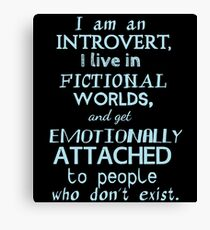 introvert, fictional worlds, fictional characters #2 Canvas Print