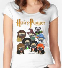 Camiseta entallada de cuello redondo Pugger peludo