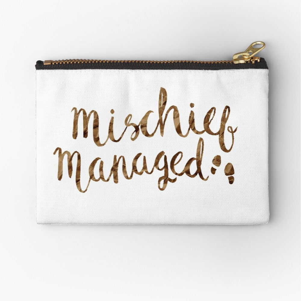 MISCHIEF MANAGED Zipper Pouch