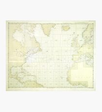 Kriegsmarine Atlantic Map Photographic Print