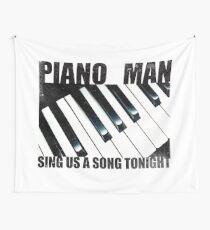 Piano Man Wall Tapestry
