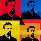 ANTON CHEKHOV - RUSSIAN WRITER, WARHOL-STYLE 4-UP COLLAGE by Clifford Hayes