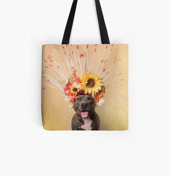 Flower Power, Holiday All Over Print Tote Bag