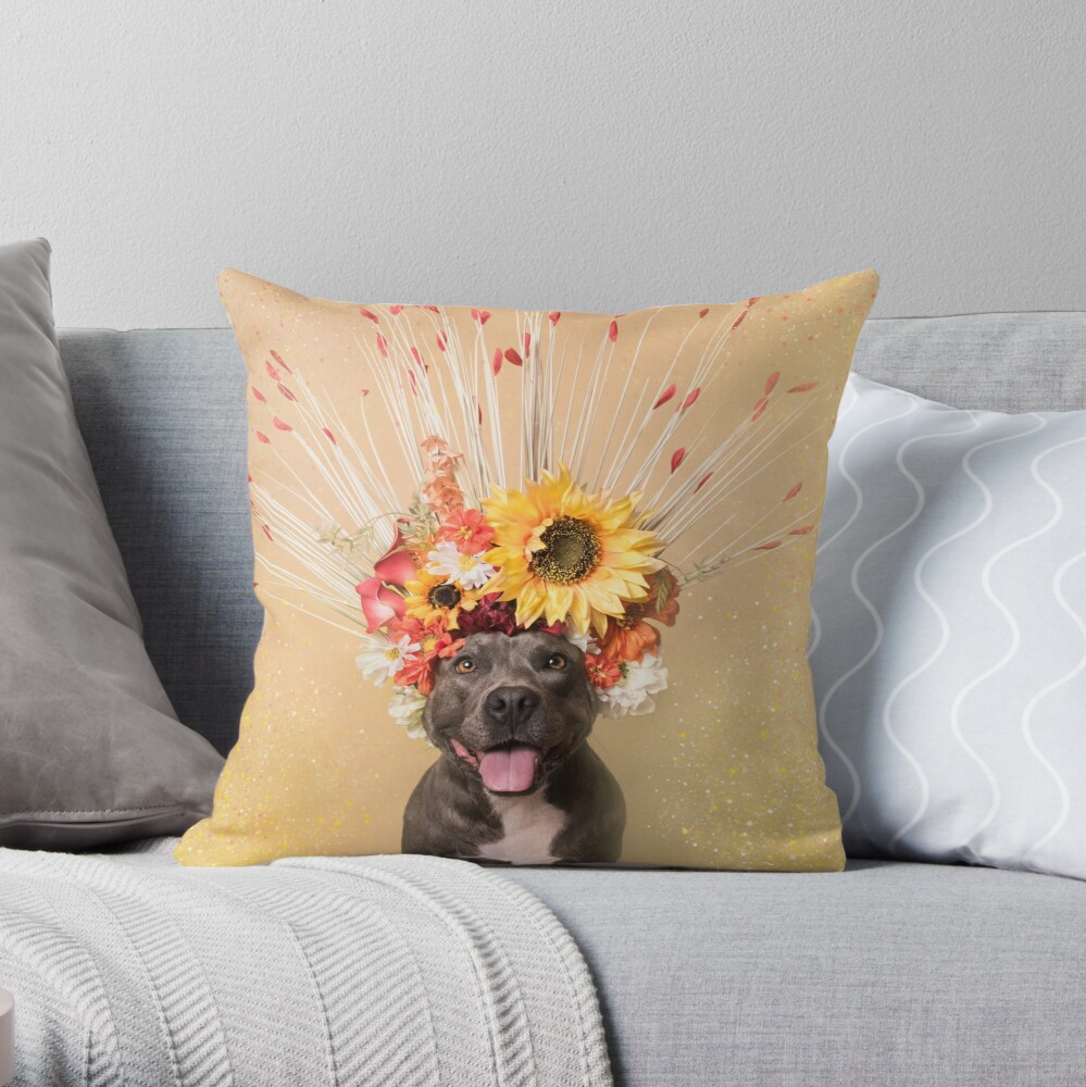 Flower Power, Holiday Throw Pillow