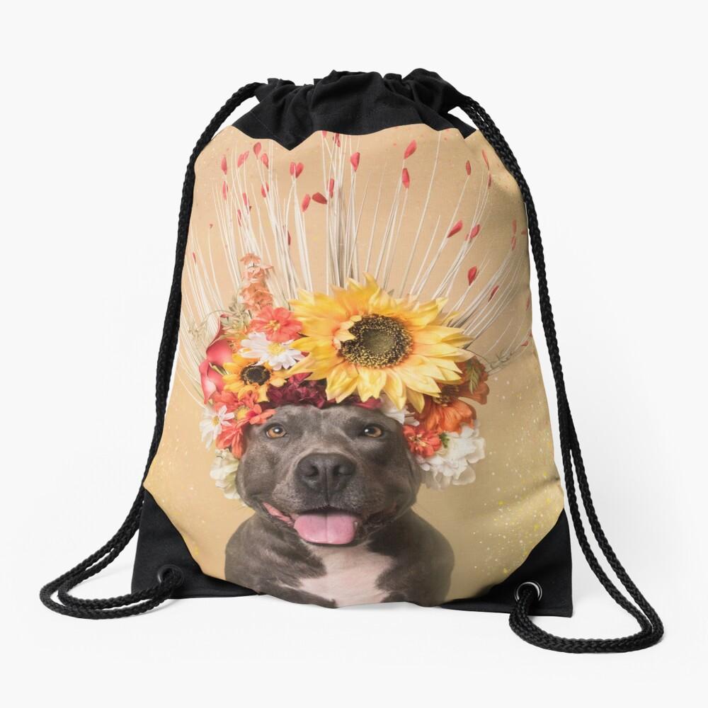 Flower Power, Holiday Drawstring Bag