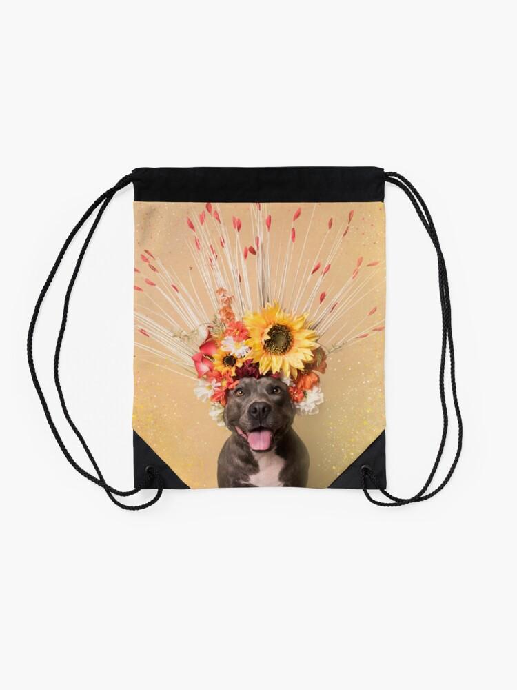 Alternate view of Flower Power, Holiday Drawstring Bag