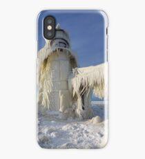 St. Joseph Lighthouse in Winter iPhone Case