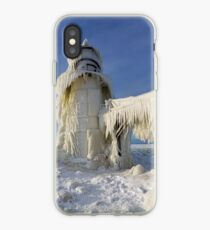 St. Joseph Lighthouse in Winter iPhone Case
