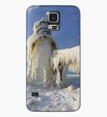 St. Joseph Lighthouse in Winter Case/Skin for Samsung Galaxy