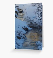 Evening Sky Reflected In Ice Greeting Card