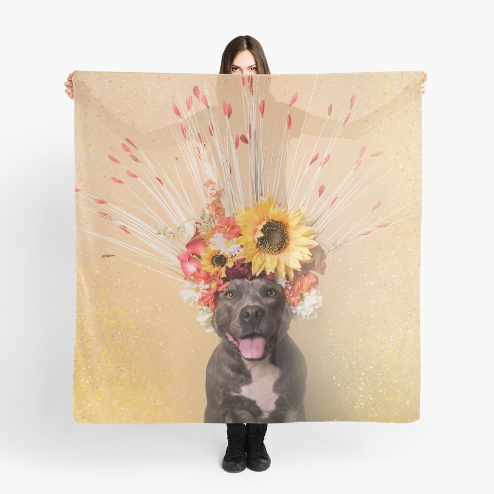 Flower Power, Holiday Scarf