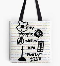"""My """"People Skills"""" are """"Rusty"""" Tote Bag"""