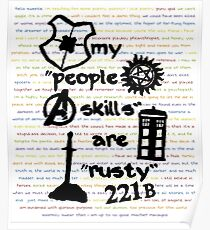 "My ""People Skills"" are ""Rusty"" Poster"
