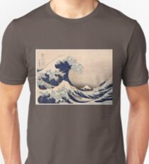 Classic Japanese Great Wave off Kanagawa by Hokusai Wall Tapestry Traditional Version HD High Quality T-Shirt