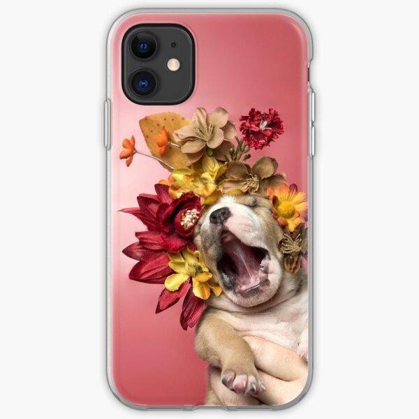 Flower Power, Luvable Welpe iPhone Flexible Hülle