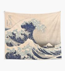 Classic Japanese Great Wave off Kanagawa by Hokusai Wall Tapestry Traditional Version HD High Quality Wall Tapestry