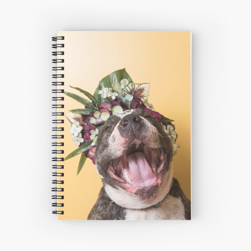 Flower Power, Luther laughing Spiral Notebook