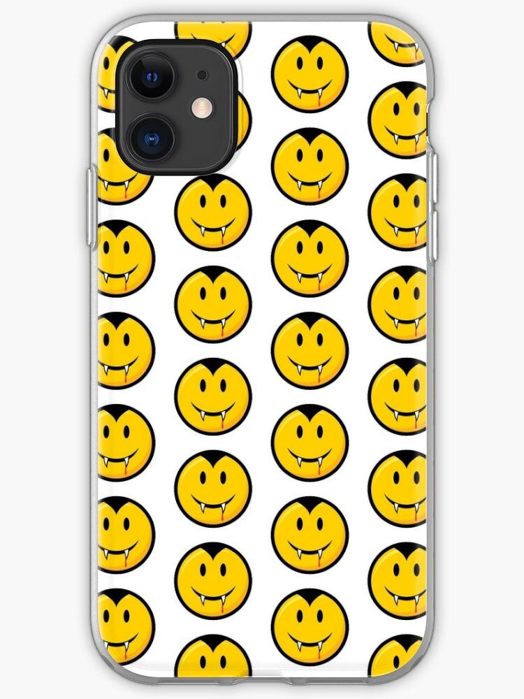 Orange smiley face iphone case