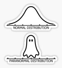 Normal Distribution Paranormal Distribution Sticker