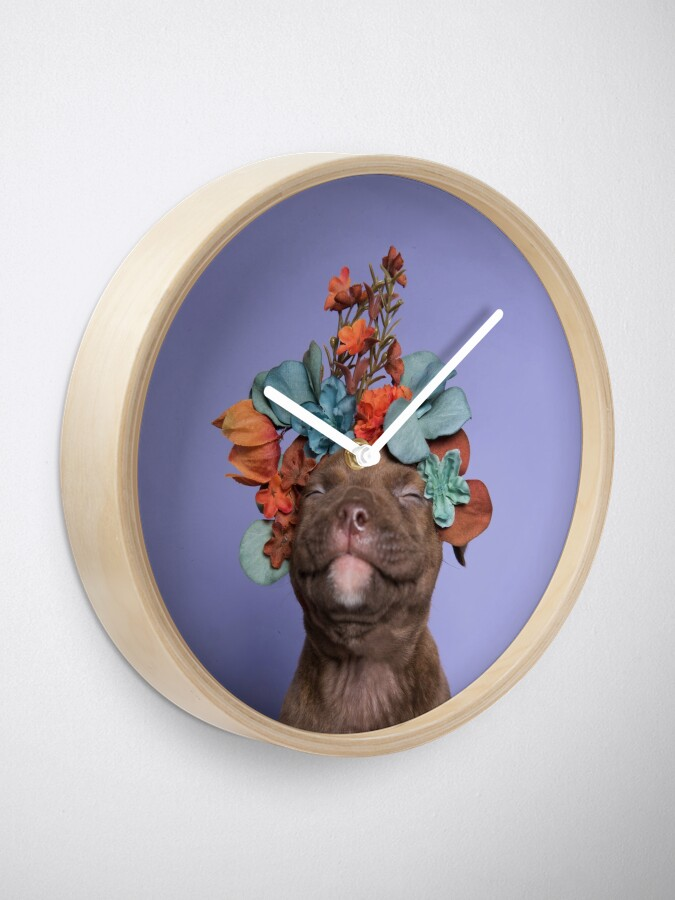 Alternate view of SweetPea, Flower Power Clock