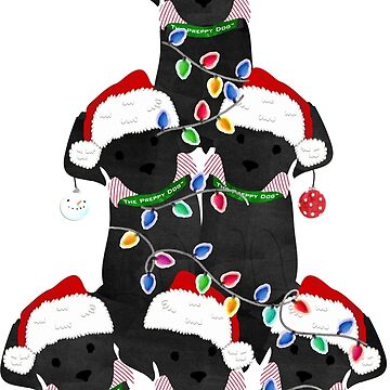Holiday Preppy Black Lab Puppy Christmas Tree by emrdesigns