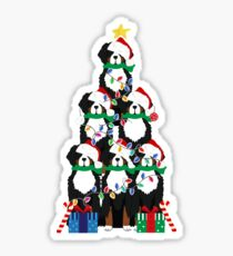 Holiday Bernese Mountain Dog Puppy Christmas Tree Sticker