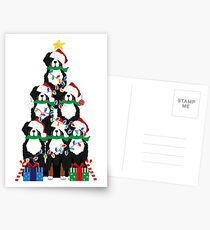 Holiday Bernese Mountain Dog Puppy Christmas Tree Postcards