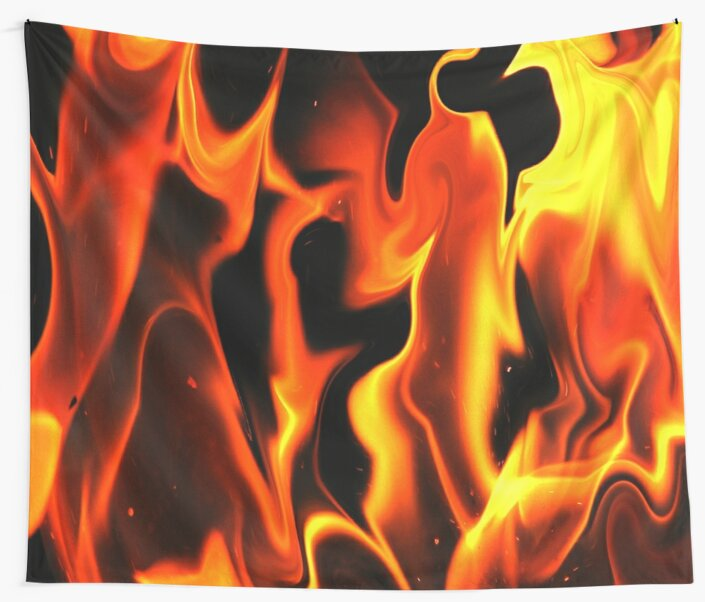 Black Fire-Available As Art Prints-Mugs,Cases,Duvets,T Shirts,Stickers,etc by Robert Burns