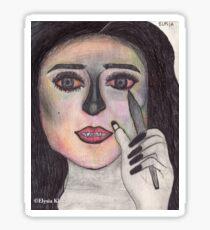 'That Girl' Art by Elysia Kirk Sticker