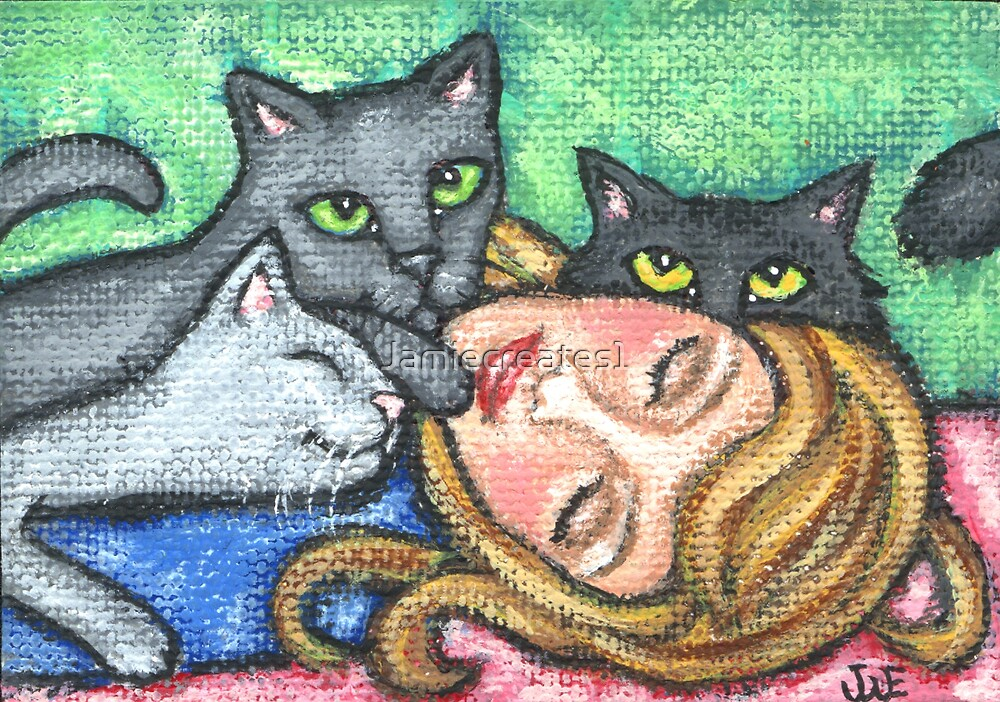Resting With Cats by Jamie Wogan Edwards