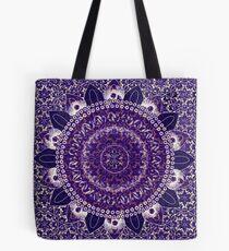 Royal Purple Mandala Tote Bag