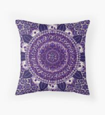 Royal Purple Mandala Throw Pillow