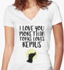More Than Tonks Loves Remus Women's Fitted V-Neck T-Shirt