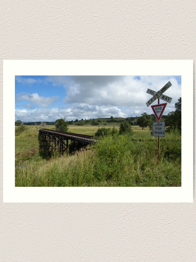 Alternate view of Look for Trains Art Print