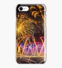 Fireworks on Clifton Suspension Bridge, Bristol iPhone Case/Skin