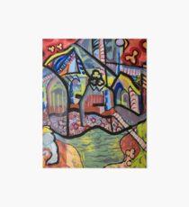 The Church at Auvers a la Mela Art Board Print