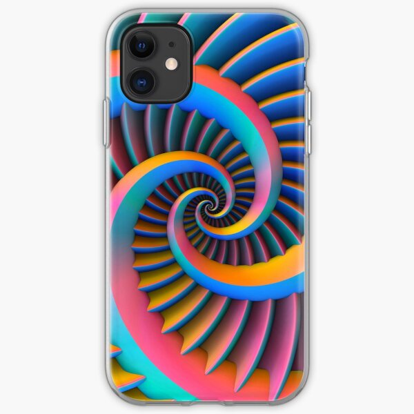 Opposing Spiral Pattern in 3-D iPhone Soft Case