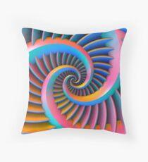 Opposing Spiral Pattern in 3-D Throw Pillow