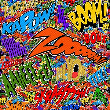 Onomatopoeia Collage #2 (2 of 2) by darthpaul