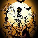 Skeletons Macabre Dance by BluedarkArt