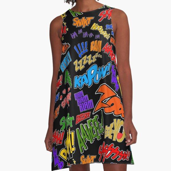 Onomatopoeia Collage #1 (1 of 2) A-Line Dress