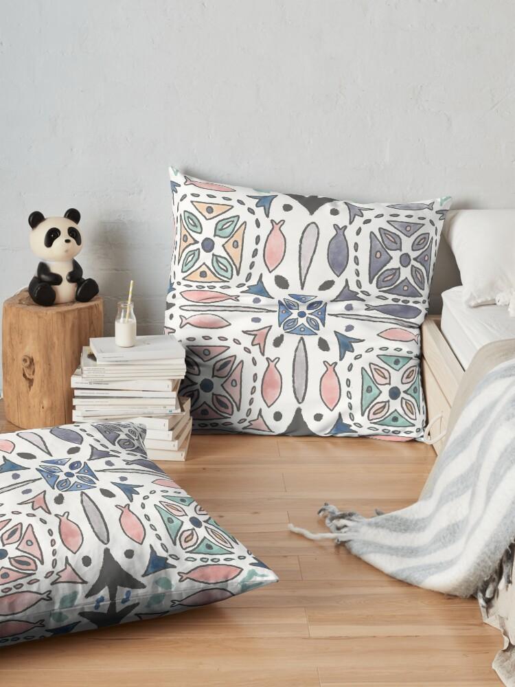 Alternate view of Mediterranean Tiles Floor Pillow