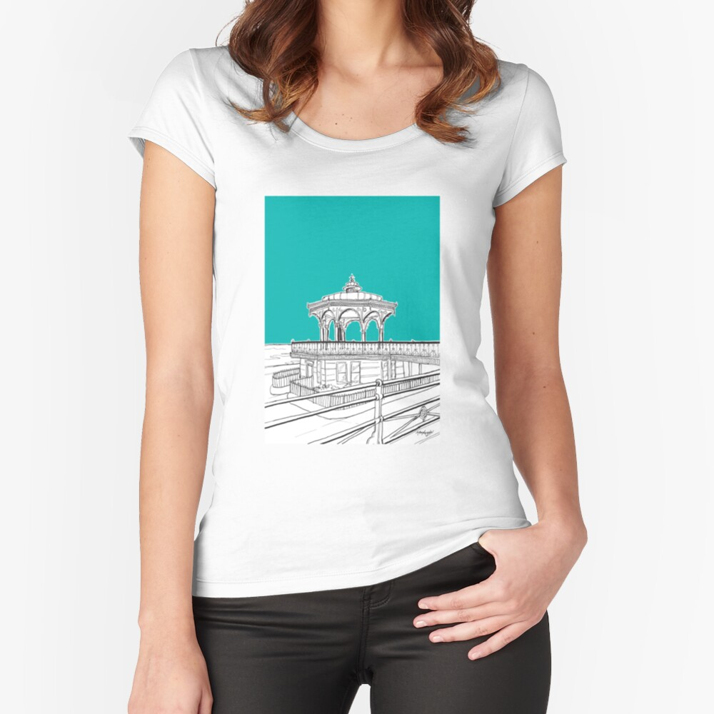 Brighton & Hove Bandstand Fitted Scoop T-Shirt